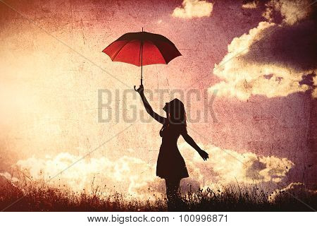 Young Women With Umbrella