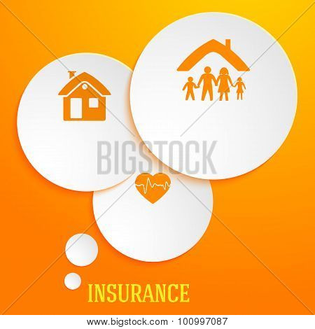 Infographics-template-business-life-insurance-family-house