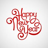 Inscription Happy New Year. Vector illustration EPS 10 poster