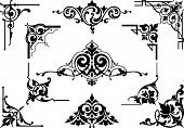A vector illustration of corners and other decorative elements for use in your design poster