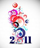 new year 2011 in white snow background. Vector illustration poster