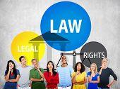 Law Legal Rights Judge Judgment Punishment Judicial Concept poster
