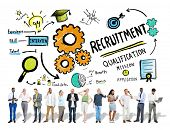 Ethnicity People Recruitment Digital Devices Searching Concept poster