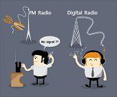 FM radio no signal, Digital radio, Cancel FM radio frequency, Get Rid Of FM Radio, Digital Audio Broadcasting(DAB) poster
