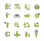 Business Opportunities Icons // Natura Series poster
