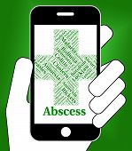 Abscess Illness Meaning Poor Health And Affliction poster