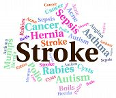 Stroke Illness Showing Transient Ischemic Attack And Poor Health poster
