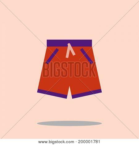 swim short icon. swimming trunks Flat design Vector Illustration