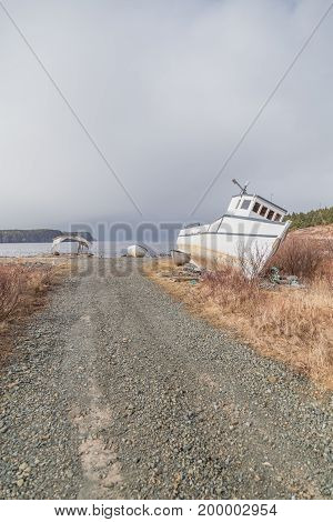 Gravel Road And Boat