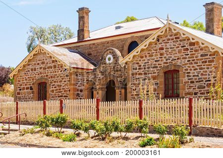 The Old Police Station and Courthouse were completed in 1860 - Auburn SA Australia poster