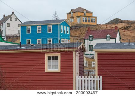 Colourful Houses Trinity Newfoundland