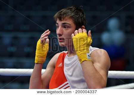 Orenburg, Russia-may 7, 2017 Year: Boys Boxers Compete