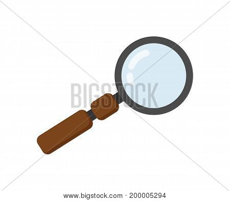 Magnifying glass vector illustration isolated on white background. Search concept, magnifier icon in flat design.