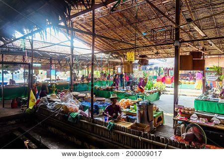thailand antique market Ayutthaya water bazaar market
