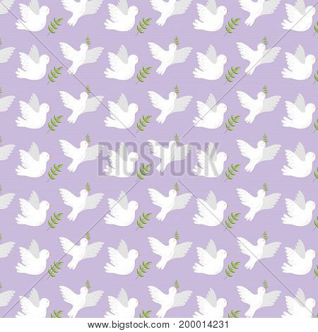 peaceful dove to worldwide harmony element background vector illustration