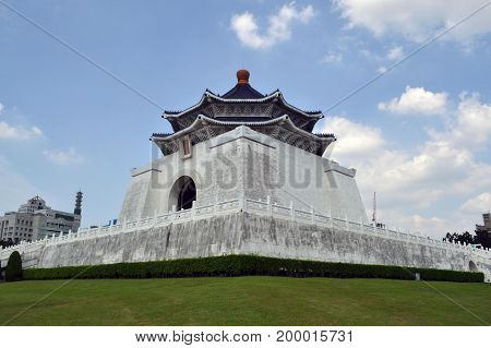 Chiang Kai Sek Memorial Hall In Taipei, Taiwan (side View)