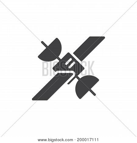 Satellite icon vector, filled flat sign, solid pictogram isolated on white. Symbol, logo illustration. Pixel perfect