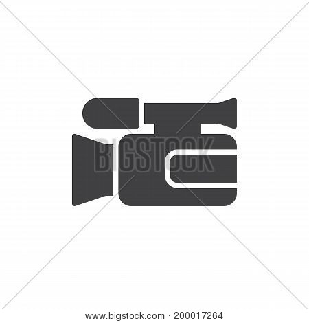 Video camera icon vector, filled flat sign, solid pictogram isolated on white. Camcorder symbol, logo illustration. Pixel perfect
