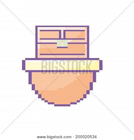 video game treasure chest in the digital platform vector illustration