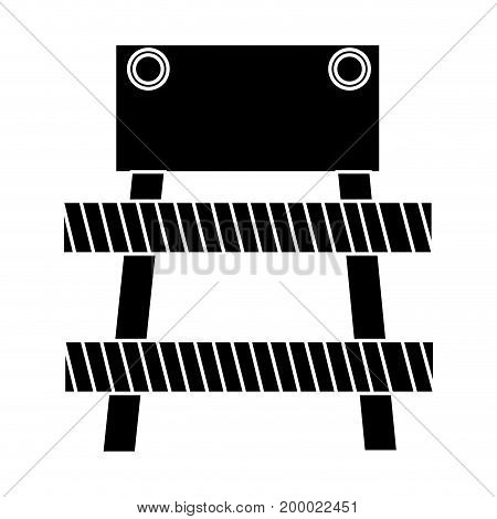 construction fence signal icon vector illustration design