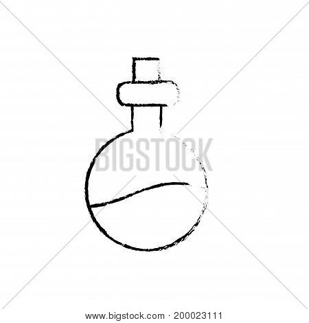 figure erlenmeyer flak with chemical potion experiment vector illustration