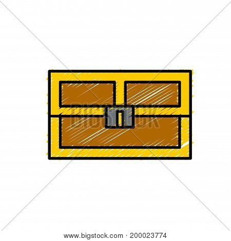 video game treasure chest with many gold vector illustration