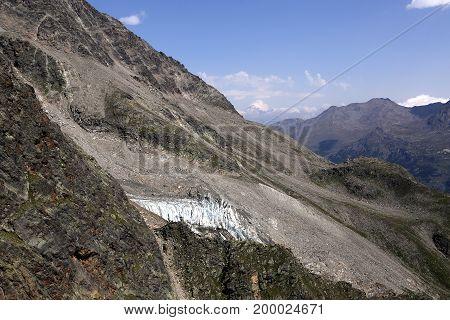 Alps , country Switzerland, area, places Mischabelhutte.
