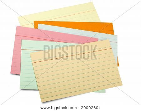 Multicolor Paper Sheet Line (clipping Path)