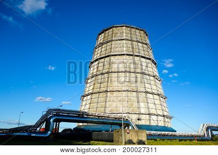 Water cooling tower for the electric power plant