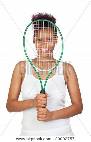 Exotic African Tennis Player