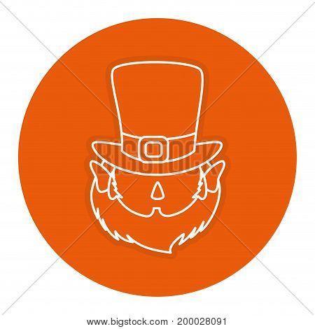 leprechaun avatar character icon vector illustration design