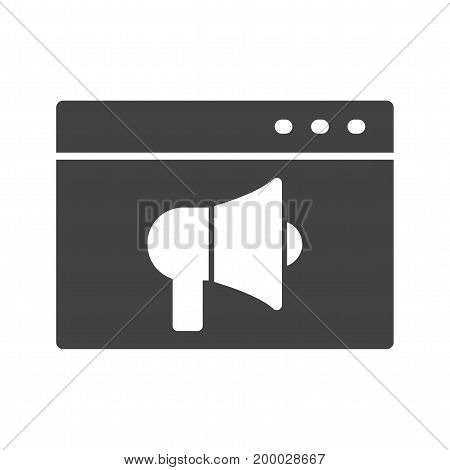 Ads, internet, video icon vector image. Can also be used for IT Services. Suitable for use on web apps, mobile apps and print media.
