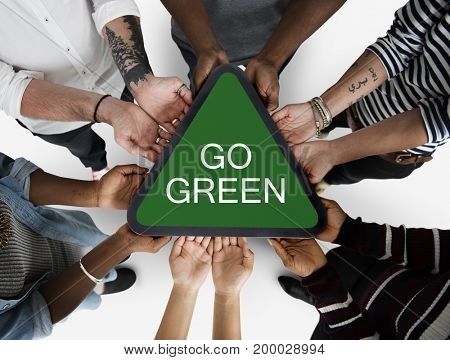 Go Green Responsibility Nature Environment Word