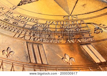 An Image of a sundial - astronomical