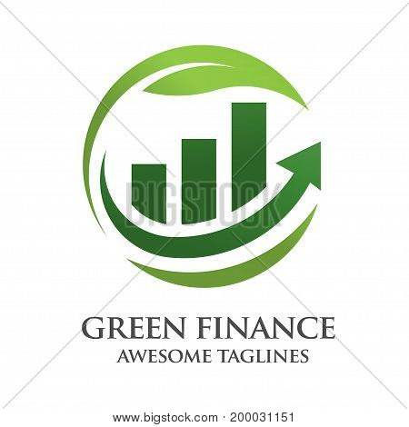 green finance logo vector, Creative symbol template for business or investment logo