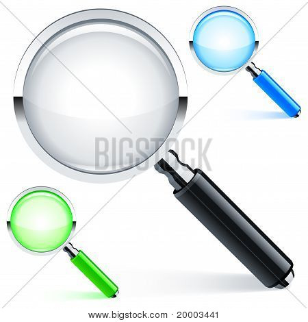 Magnifying glass.
