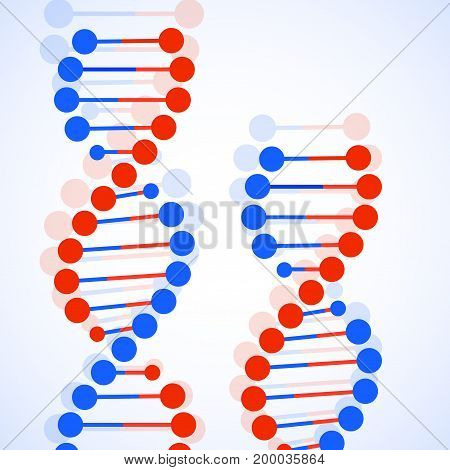 Abstract spiral of DNA, stylish molecule background