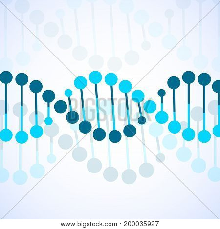 Abstract spiral of DNA stylish molecule background