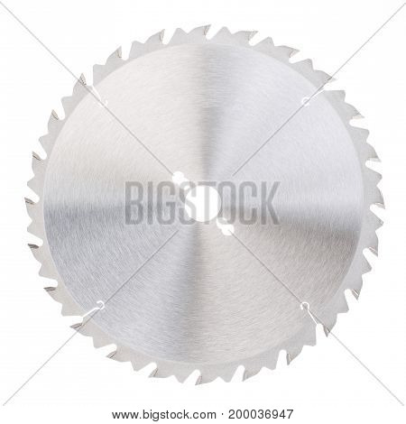 Circular saw blade for wood work on white