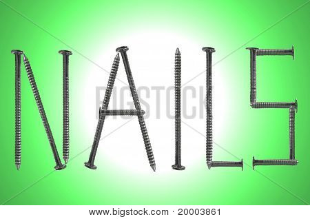 Steel Nail Background
