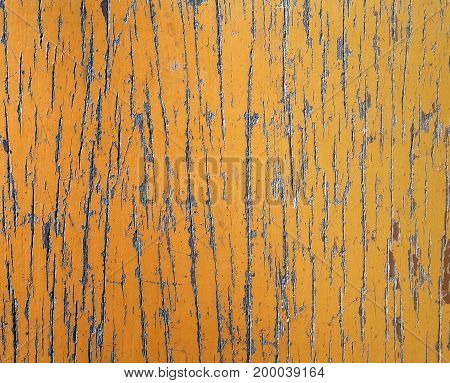 old wooden table scratched textured, abstract natural background, close up top view