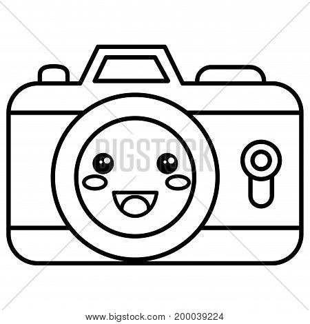 camera photographic kawaii character vector illustration design