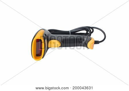 laser barcode scanner electronic, hand, industry, isolated,