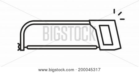 Saw line icon on white background. Vector illustration.