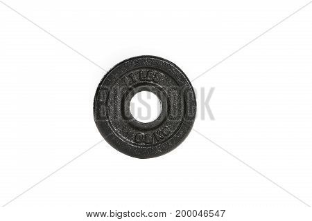 Dumbbell Plate Isolate On White Background