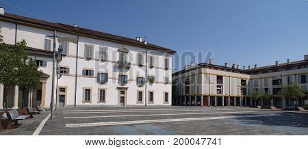 Gorgonzola (Milan Lombardy Italy): the town square known as Piazza della Repubblica