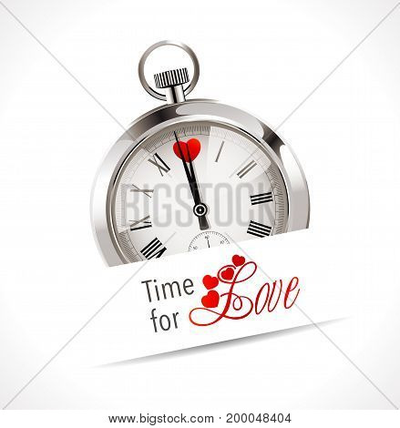 Stopwatch - time for love - stock illustration