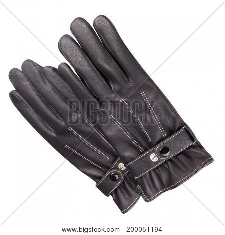 image of two Leather Gloves Isolated on white