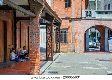 TAIPEI TAIWAN - JUNE 26: This is Bopiliao historical block a famous area which people visit to see traditional Chinese architecture as it was in the 18th century on June 26 2017 in Taipei