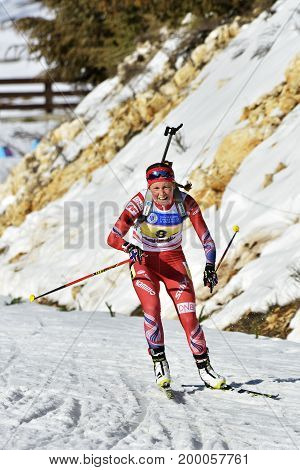 Cheile Gradistei, Roamania - January 30: Unknown Competitor In Ibu Youth&junior World Championships